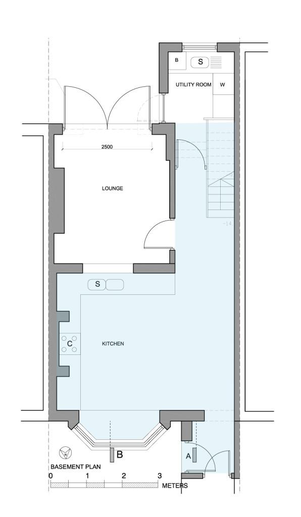 Compartmentation on a ground basement floor