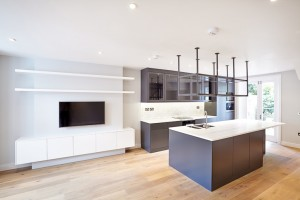 London Home - Open Kitchen Lounge in 5 Storey Terrace