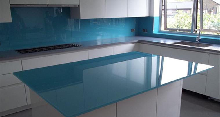 glass worktop