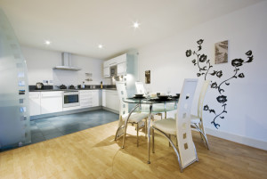 Open plan interior that meets the LACoRS guidance